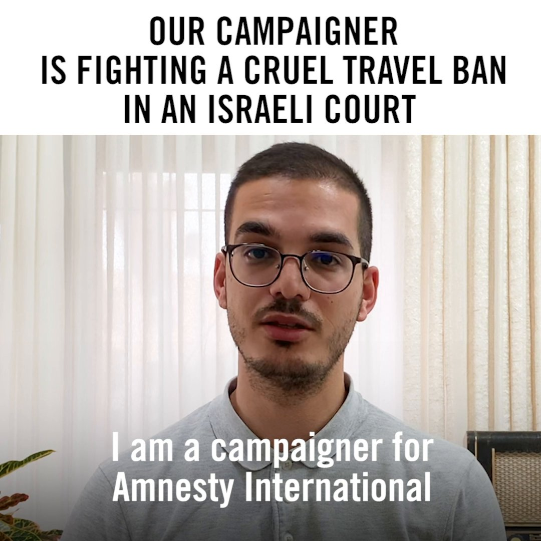 Laith has hope that with the support of people like you, he will once again be able to travel & defend the rights of others.