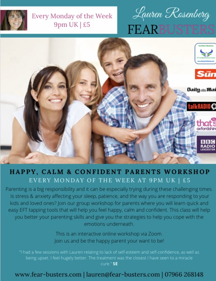 #class #for #parents to feel more #calm #confident #more in #control during #COVID__19 #mentalhealth #MentalHealthAwareness #MentalHealthDuringQuarantine #MentalHealthMatters #journorequests @PositiveKidsUK @mhtodaymag @PRJournoRequest @StaceySolomon @loosewomen @CarolLookEFT