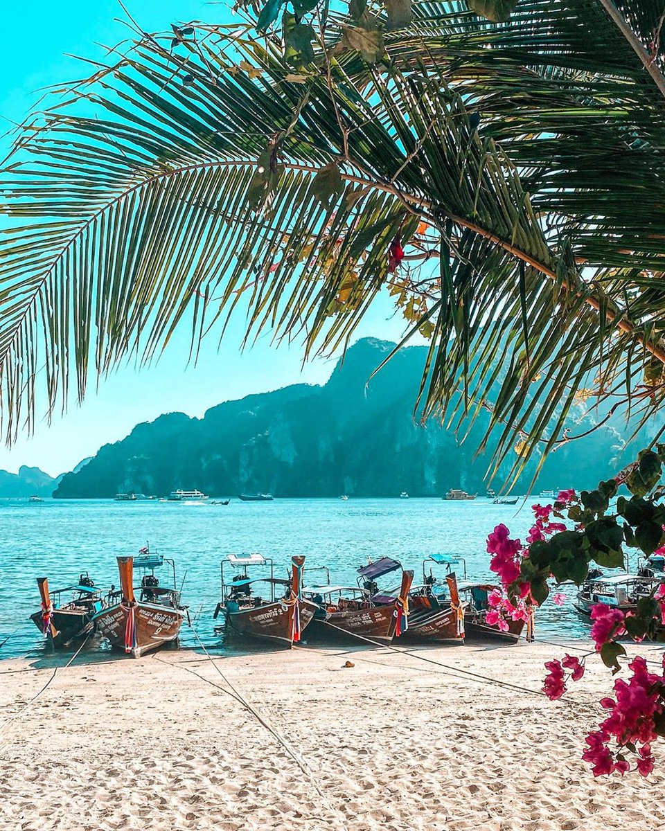 Take the ferry or speedboat from Phuket or Krabi to the Phi Phi islands. Of the six islands, only one-Phi Phi Don - is inhabited, meaning you can get away from the hustle & bustle of the mainland in picturesque surroundings @anais.serendipity #amazingthailand #travelinspirationpic.twitter.com/cDnoYkUUc3
