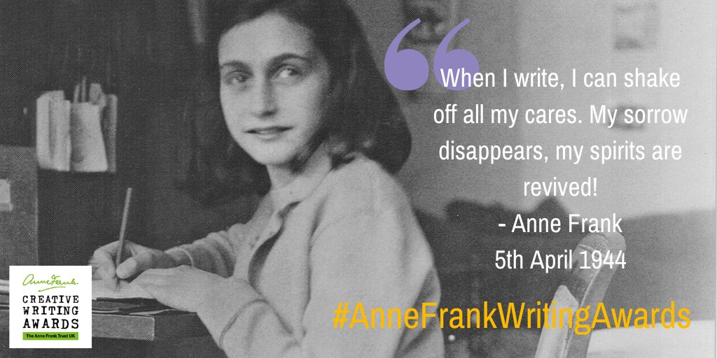The #AnneFrankCreativeWritingAwards are open to young people aged 10-15. Be inspired by Anne - get writing, and challenge prejudice. You could win a trip to Amsterdam! bit.ly/2ZAINn9