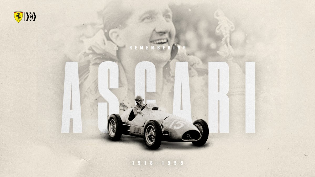 Today we remember our first world champion, Alberto Ascari, 65 years on from that sad day at Monza ❤️  #essereFerrari 🔴 https://t.co/6Mhkuy56TY