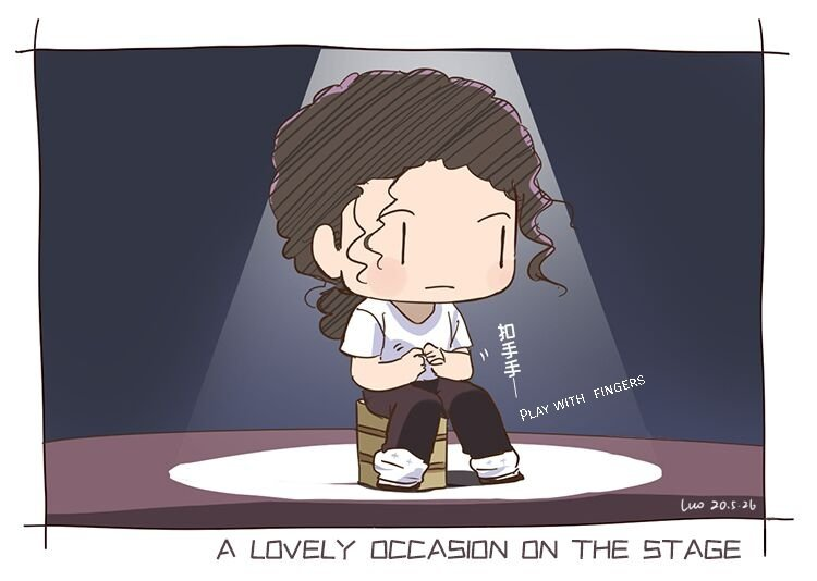 A lovely occasion on stage2 [ Michael is so cute sitting on the stage](๑°w°๑) #michaeljackson #mj #art pic.twitter.com/4SXxSyzuW8