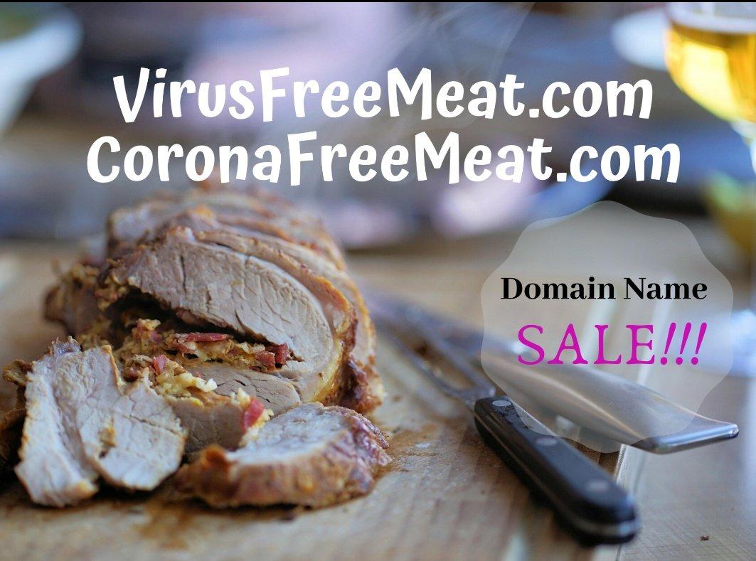 Premium meat industry domain names for acquisition.  #meat #meatindustry #domainname #DomainNameForSale #CoronaWarriors #coronavirus #Covid_19