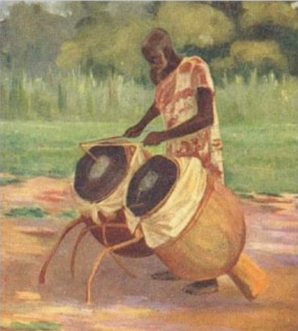 Ashanti people of Ghana had their own form of a telegraph way before American Inventor, Samuel Morse's patent.  The Ashanti people sent messages through the forest with their drums. The tones of their drums her styled after their own tonal language. <br>http://pic.twitter.com/nt71phz90H