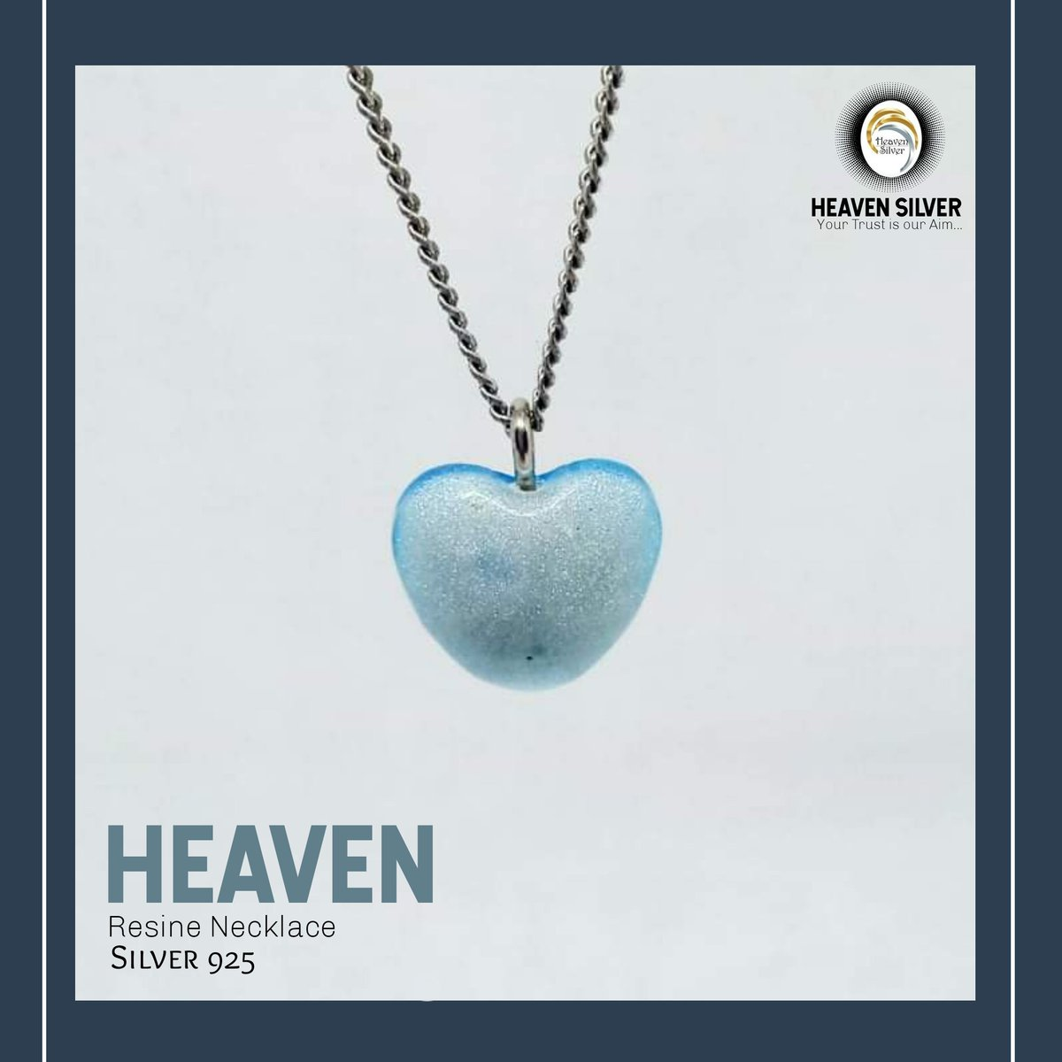Good morning 😍 Heaven Resine Necklace Available Now  #Silver925 #Necklace #Resine #Heart #Blue #Heaven #Silver #Alex Your #Trust is our #Aim...