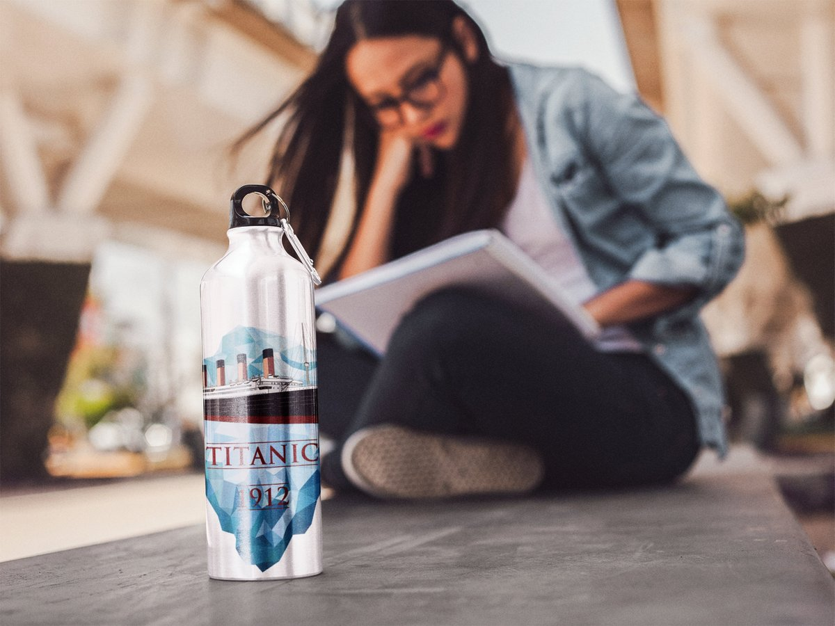 Excited to share the latest addition to my #etsy shop: Iceberg & Titanic water bottle, perfect gift for yoga lover, stainless steel water bottle  #partygifting #white #no #blue #titanicwaterbottle #waterbottlelabel #sportswaterbottles #titanic