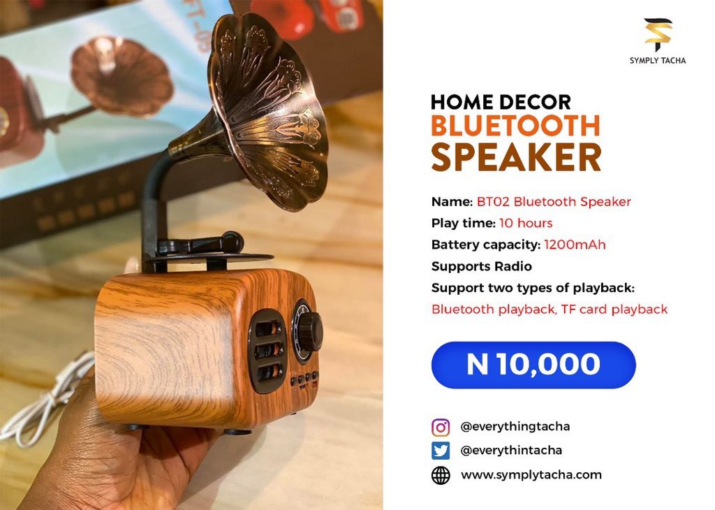 Here's a Bluetooth speaker that  is a must have for everyone.  DM @everythintacha  Now to order for yours #TachaGrammySpeaker #TuesdayMotivation <br>http://pic.twitter.com/bfPp2JmYsV
