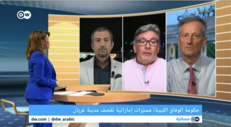 """🇱🇾🇹🇷In the middle, a photo 4 a so called #Tunisia n security expert """"Basel Turjuman"""". He said that """"The claims that mercenaries from #Sudan and #Chad...etc are fighting along with #Libya's #Haftar are just rumors, talks"""" 🤦🏻♂️😂👇🏻 He presets himself as a neutral expert vs #Turkey 🧐"""