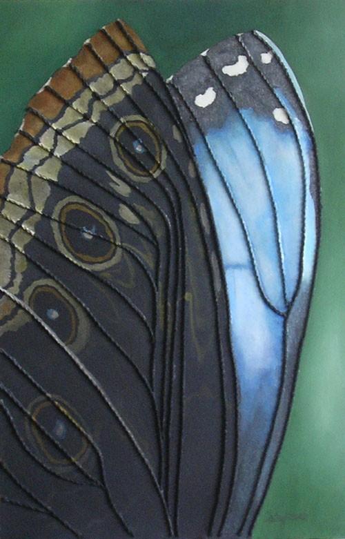 Butterfly Wall Art String Art Fine Art Painting Textured  stringart #butterflies nature #blue wallart painting