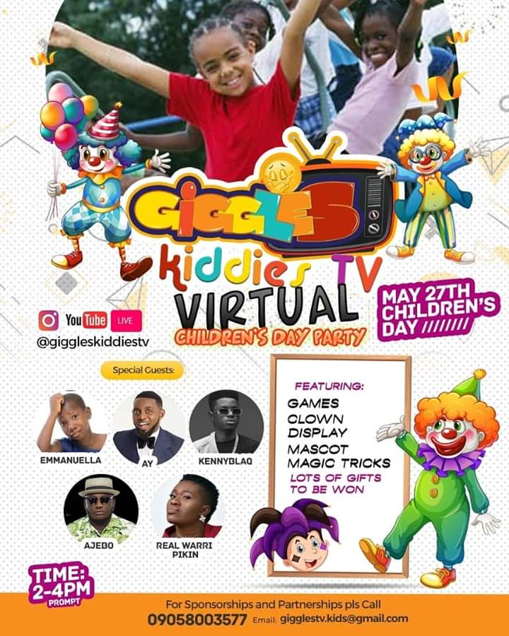 The ONLY Superstar Comedian Ajebo D Comedian Nigerias & ONLY worlds kiddies Comedian, kids enjoy watching because he gives them PREMIUM jokes. 1 Million Naira will be won by guests tomorrow!