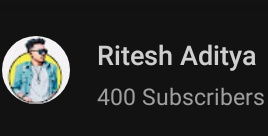 Completed 400 Subscriber Family  #vlogger #youtube @ytcreators @YTCreatorsIndia @YouTubepic.twitter.com/9xrIPpukhs