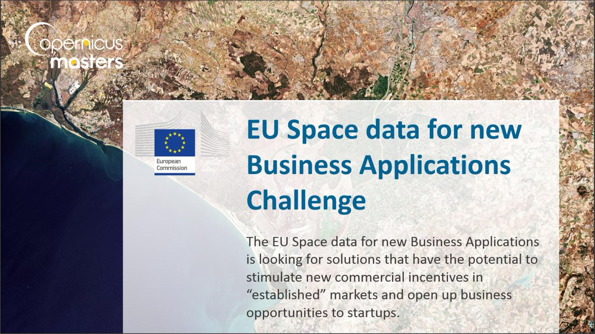 @defis_eu  #challenges at the @GalileoMasters  1⃣ #EU #space #data 2⃣ #Blue #economy   are fueled by the complementarity of #Galileo @EU_GNSS  and #Copenicus @CopernicusEU @AZO_space