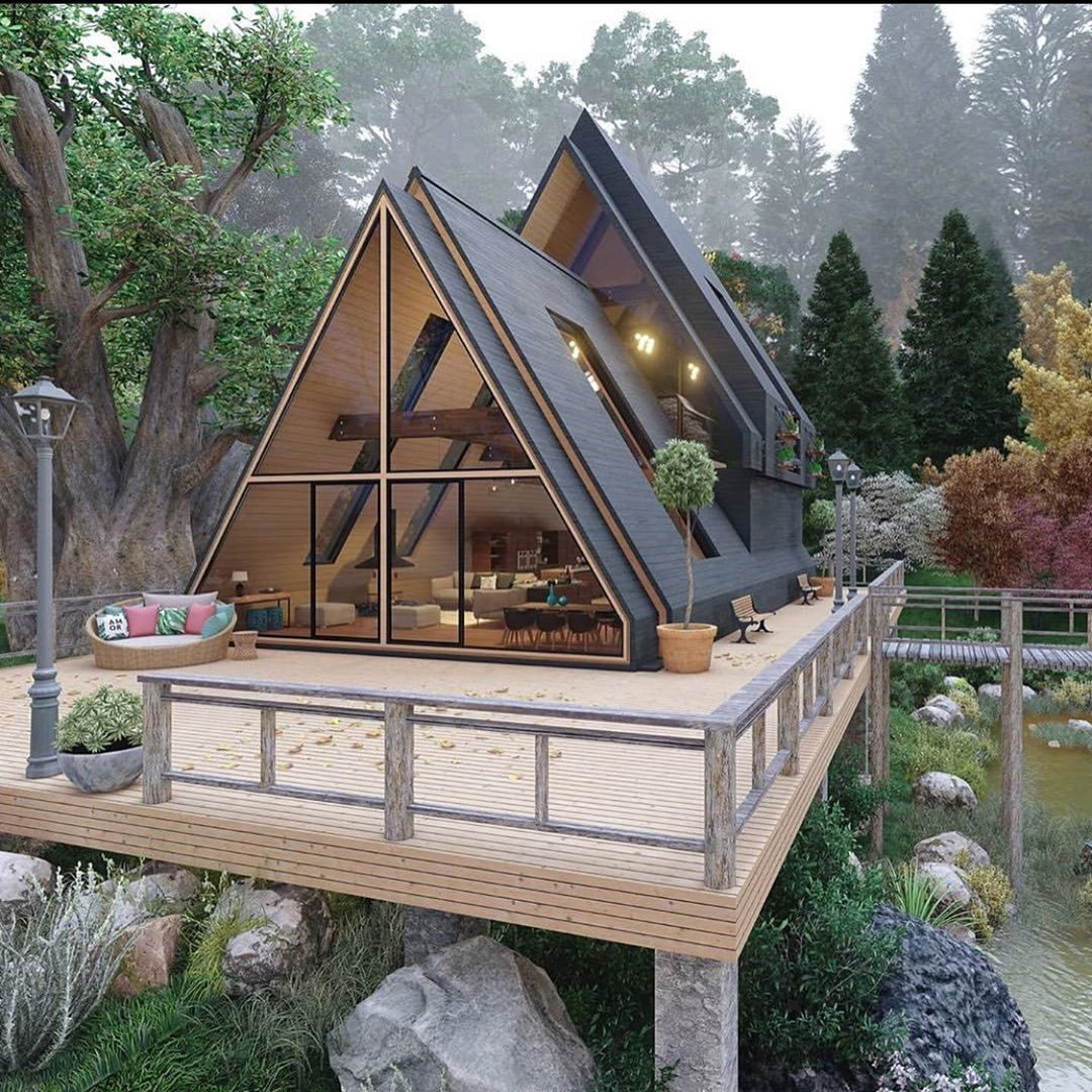 Black Hut design in the forest #design by   http://instagram.com/arreche.designer…pic.twitter.com/mJ8qdIsbRR