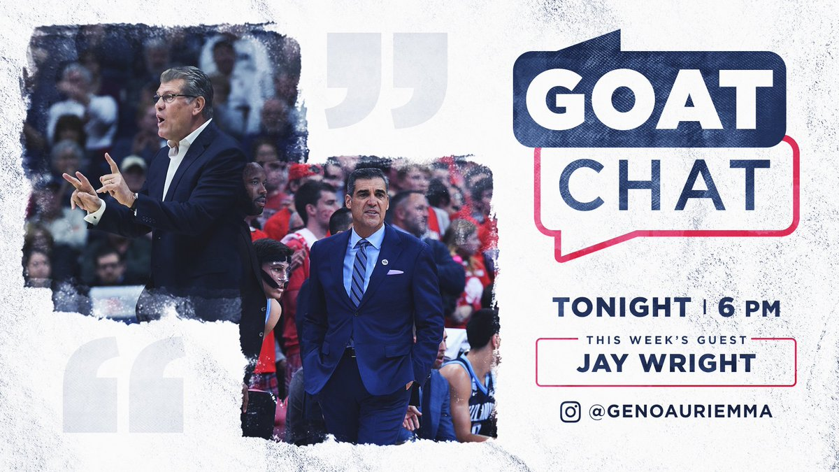 We'd say they know a thing or two about championships and the Big East...  Tune in tonight on Instagram! https://t.co/7PqfDuwkdT