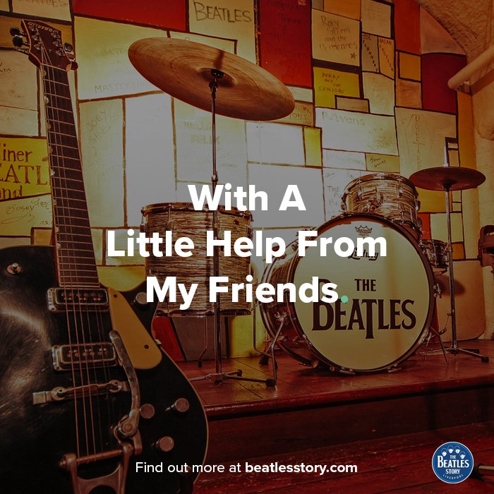 Are you sad because youre on your own? No, I get by with a little help from my friends! Tag a friend who is helping you get by. 💙 #WednesdayWisdom