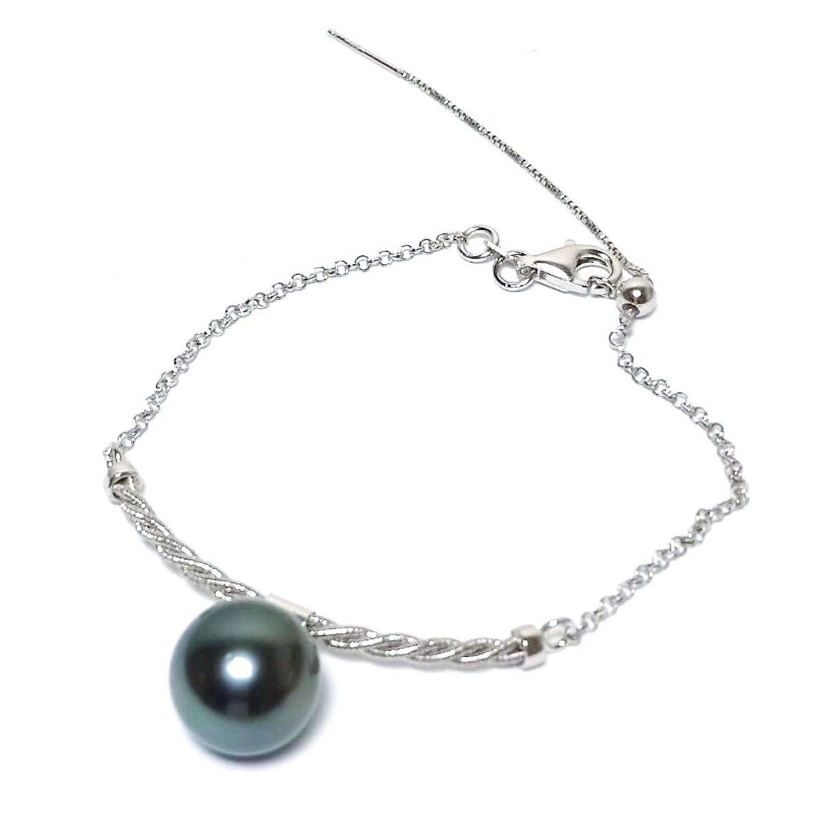 Excited to share the latest addition to my #etsy shop: Best for Gift! 18K White Gold FilledFrench Polynesia 11.5mm Tahitian South Sea Natural Peacock Black Round Pearl 6.5 -7.5 inches Bracelet  #gold #slideclasp #round #floral #yes #pearl #women