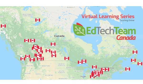 O' Canada!  So great to see all of the virtual learning across our country.  Over 20,000 educators have registered, representing over 350 Districts, Divisions and Boards.  Wow!  https://t.co/iGD5FgEuXj https://t.co/BMA1pa9OC5