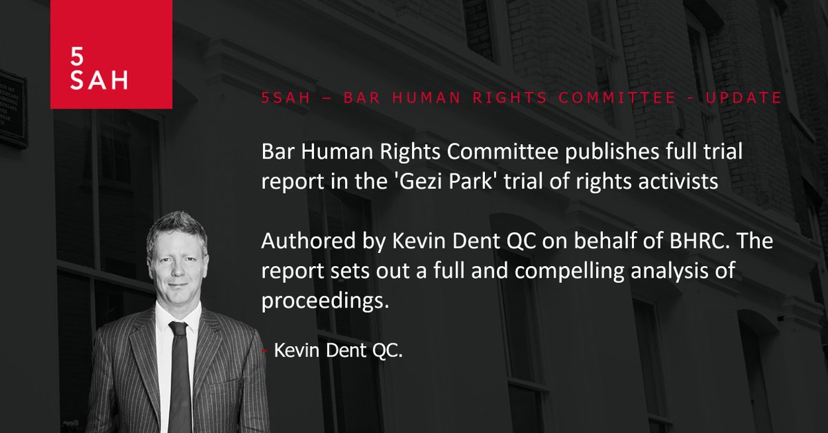 BHRC @BarHumanRights has published the full trial report in the Gezi Park trial. @KJDbarrister authored the report on behalf of BHRC. Read the full report here: bit.ly/5SAHBHRCUpdate… #fairtrial #law #HumanRights #GeziPark #update