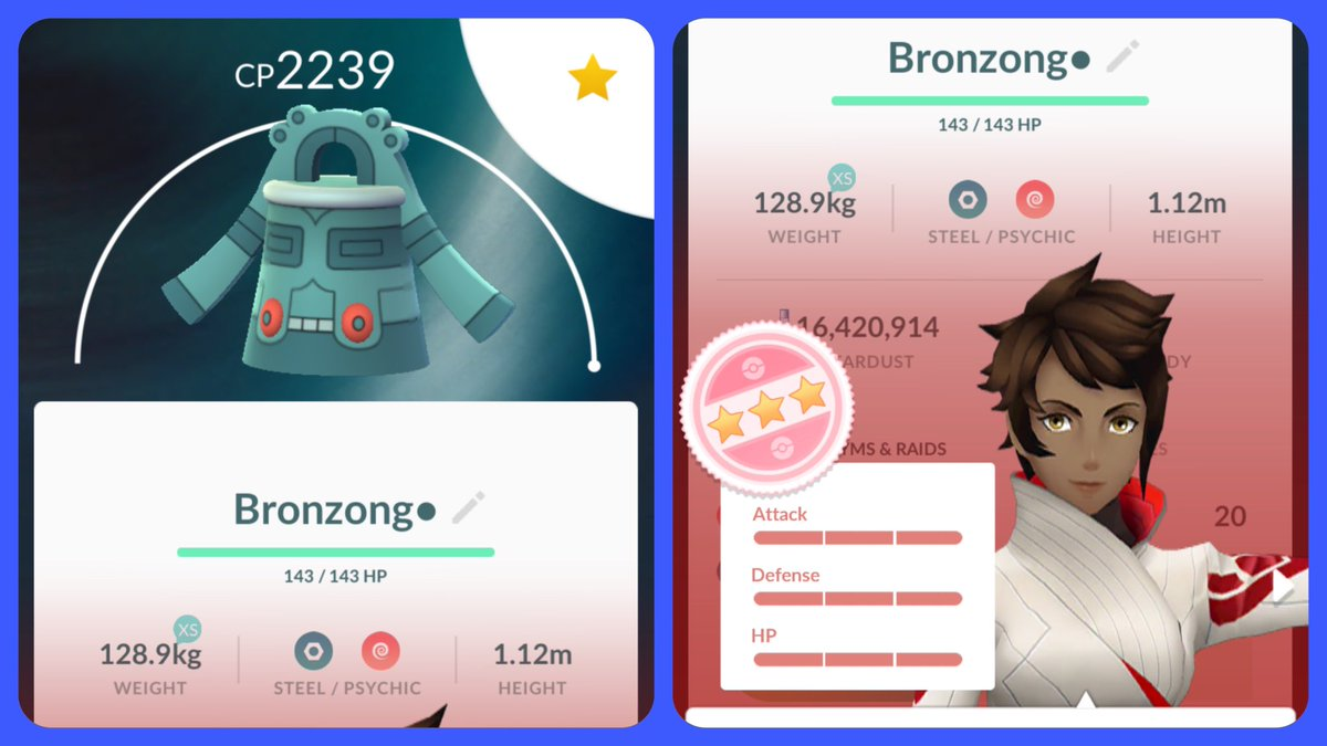 Maxed 100% Bronzong!  My 674th Maxed Pokemon!  #PokemonGO pic.twitter.com/RWBXmGg3jA