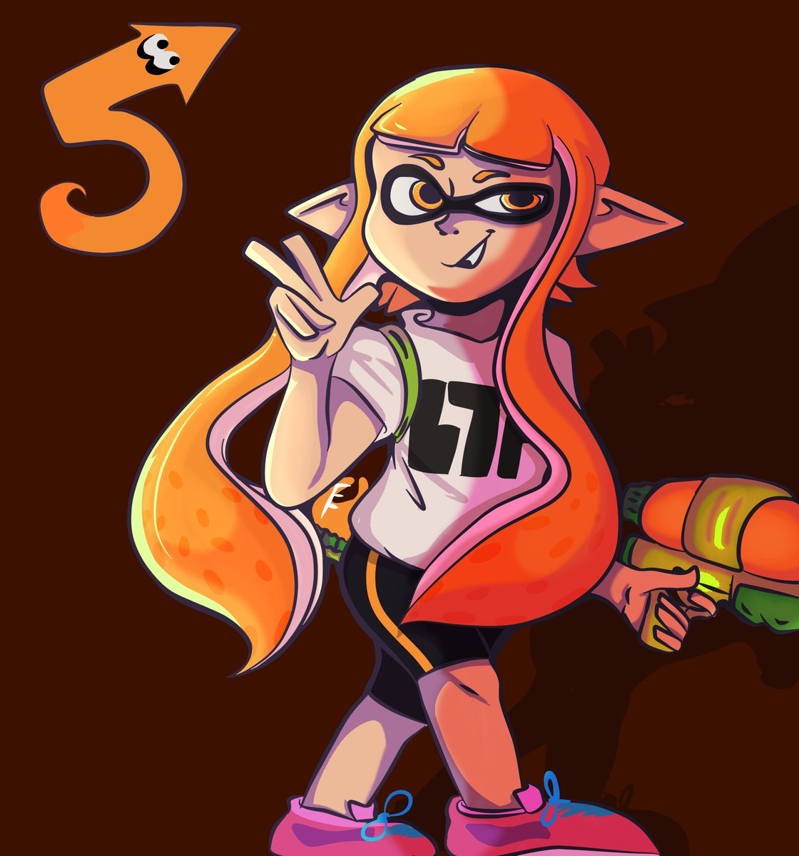 We are so close to Splatoon coming to its fifth anniversary.  Just three more days to go! More art to come in the next few days, happy birthday Splatoon! - 🦑#SplatArt #Splatoon #digitalart
