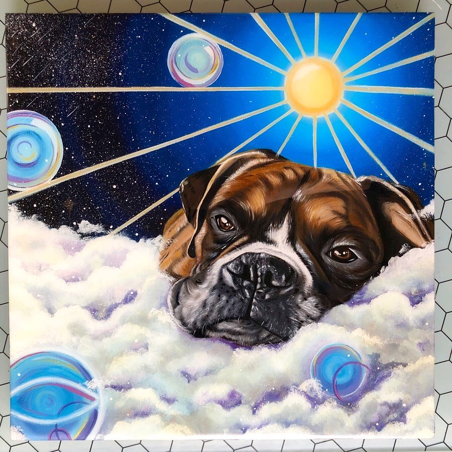 Happy Tuesday fam!Just wanted time do a quick intro for all my new followers (TY!)  I'm Leeah, I paint & illustrate! I dabble in many forms of art I do Oil Pet Portraits, digital, fluid & mixed media art! TYSM for your support; I LOVE U ALL! #artist #artpic.twitter.com/PdyUu0nGe4