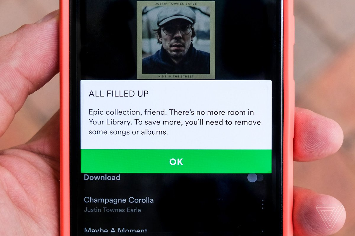 Spotify finally removes its 10,000-song library limit