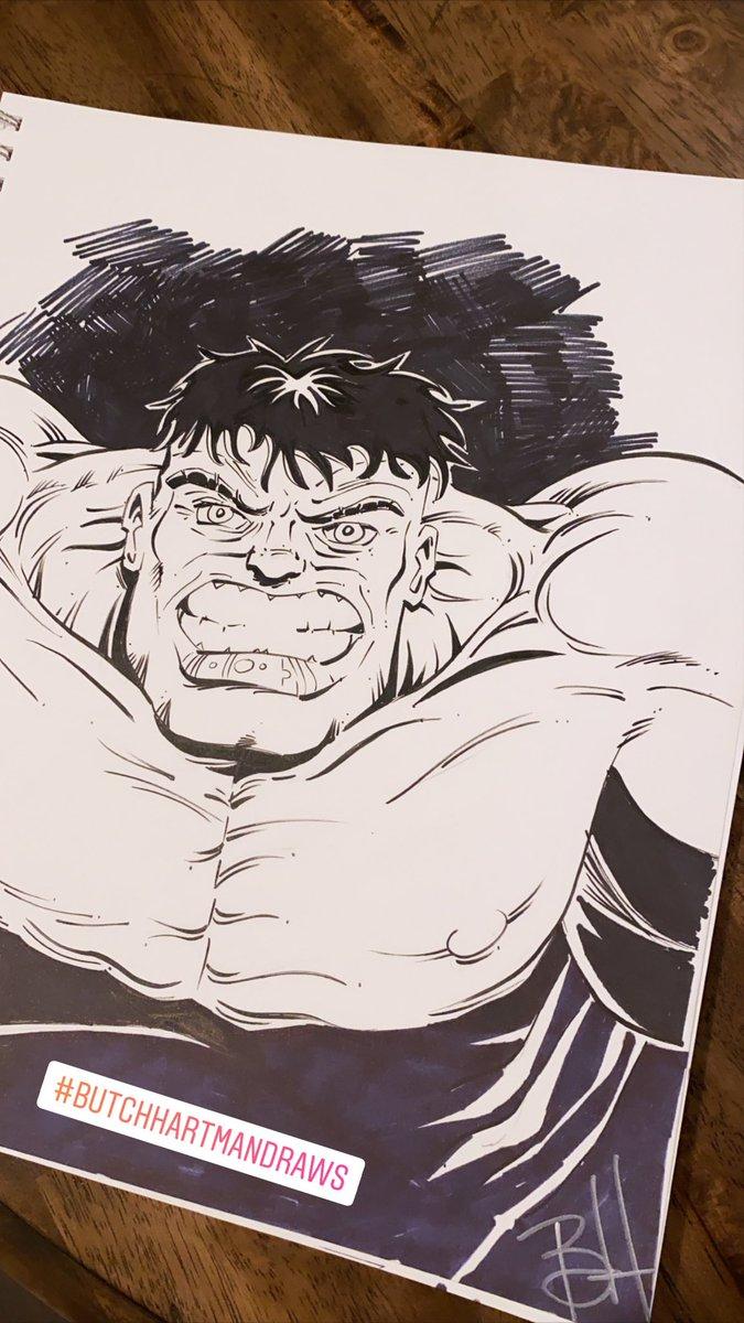 Hulk #butchhartmandraws https://t.co/BFlLLyZOYo