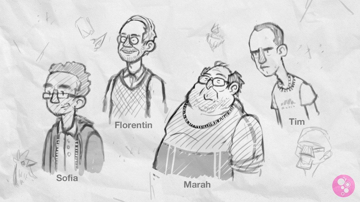 Wir haben uns Charaktere ausgedacht, die sich Charaktere im MMORPG #Grape ausgedacht haben. Die Charakternamen und Charakter-Charakternamen findet ihr im Blog: https://rocketbeans.tv/blog/343. #penandpaper #spitzestifte @artsykatsy @Pommes_Ruppel @TimNerdpic.twitter.com/mr4qZVaTKN