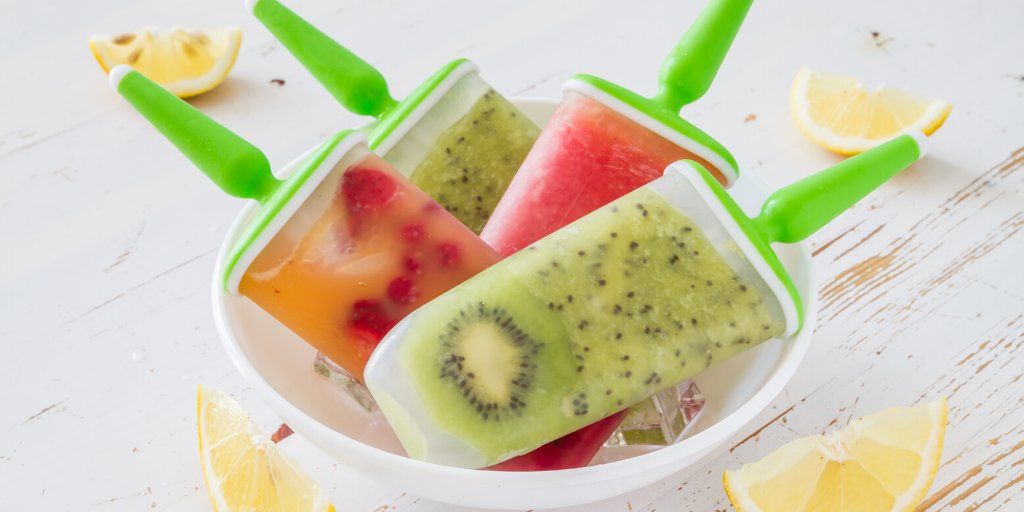 An easy and refreshing treat to help you cool down in this summer heat☀️ 🥝Cut 5 kiwi in half & scoop flesh from skins with a spoon. 🥝Blend with 1/2 cup of sugar and 1/2 cup of fresh lime juice until pureed, about 15 seconds. 🥝Pour into ice pop molds and divide evenly. #recipes https://t.co/gxYo0KT5GC