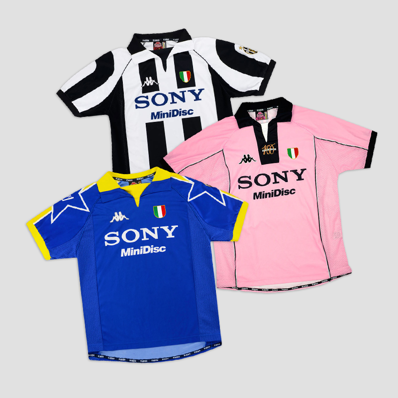 Juve x Sony x Kappa  The shirts in this era were some of Juve's best ever  #ForzaJuve pic.twitter.com/OqPA5SeUnv