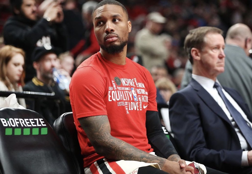 """If Portland Trail Blazers are to resume season with no pathway to playoffs, Damian Lillard tells @YahooSports he won't play in games: """"I'm going to be sitting right on that bench."""" https://t.co/SmSTgujb1p https://t.co/hYVmqhGU7A"""