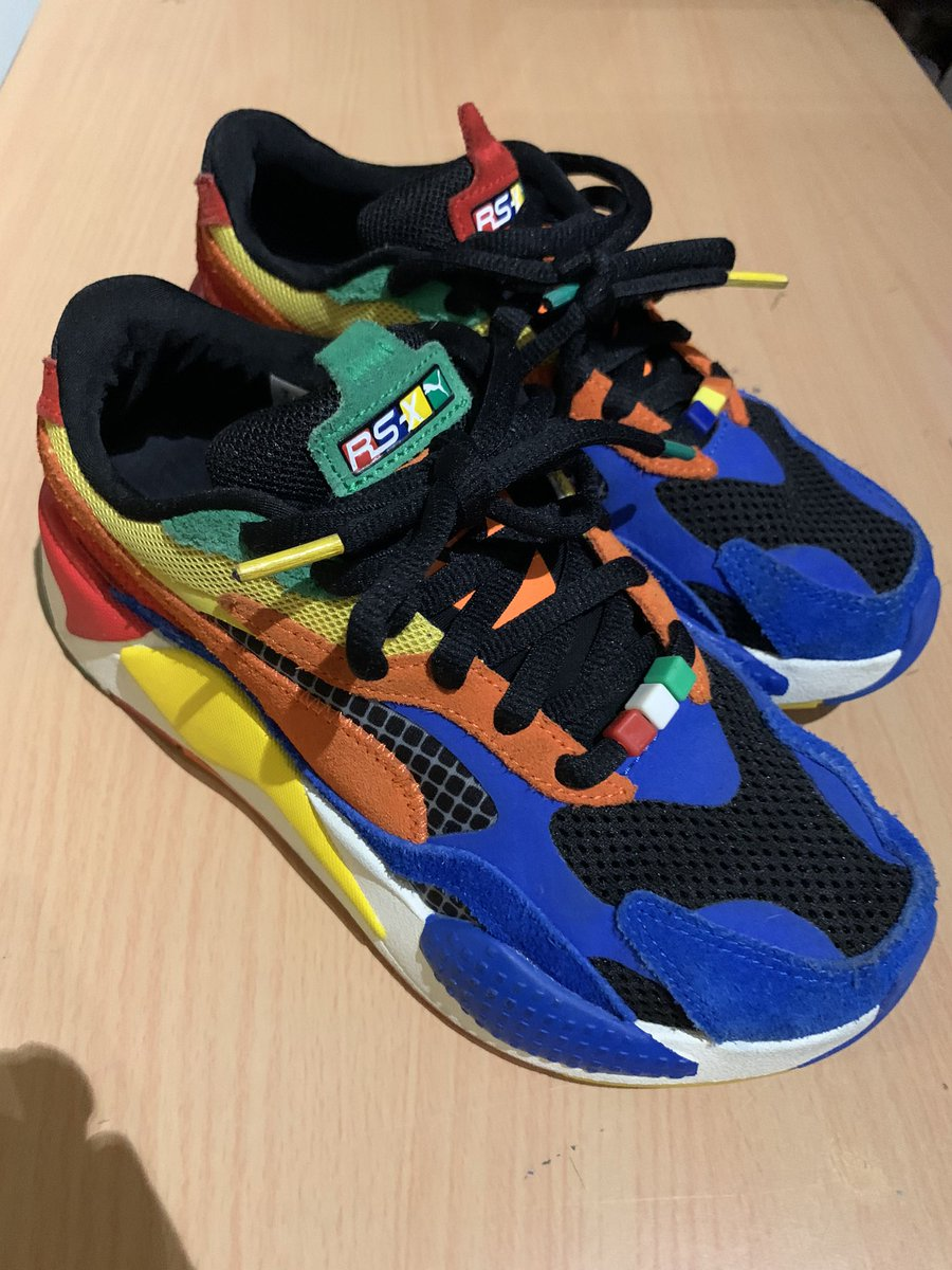 These Rubik's cube Pumas I got my son are incredible. He literally gets nonstop compliments from people. https://t.co/6t6ySFUVqV
