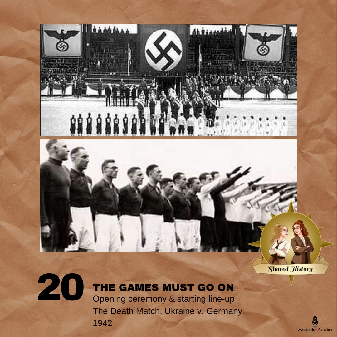 We miss sports, so we're throwing it back to two inspiring sports history stories from WWII on the pod today. Tune in for the 'unofficial' 1944 POW Summer #Olympics and The Death Match of 1942: https://t.co/0WyPABkDRk #HistoryPodcast #sportshistory https://t.co/4QBcjQclhd
