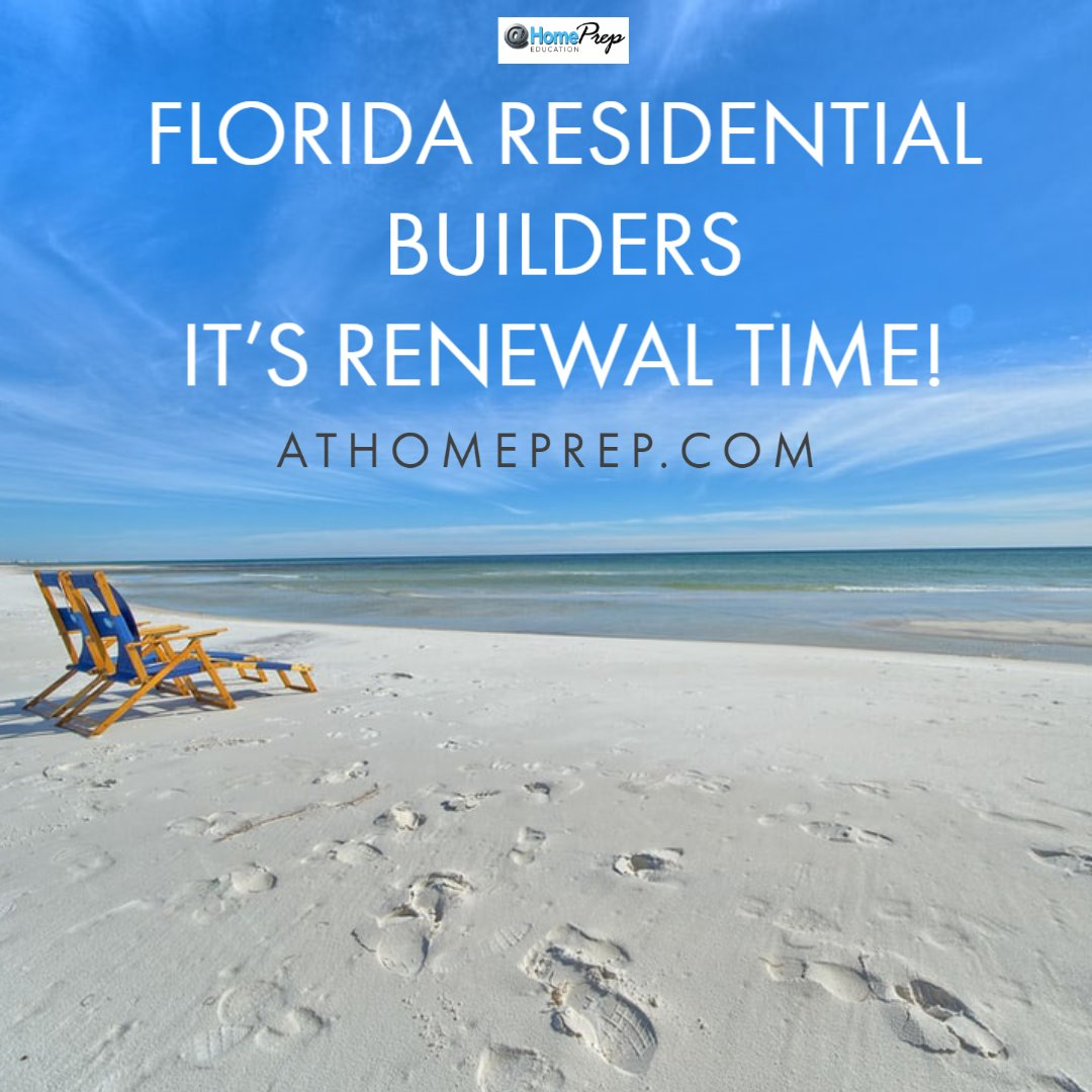 Florida Residential Builder License Holders...renewal time us upon us, and we have all your online CEU needs!  #florida #ceu #contractors #builders #career #education #online #growthpic.twitter.com/O3r0mt6p9Y