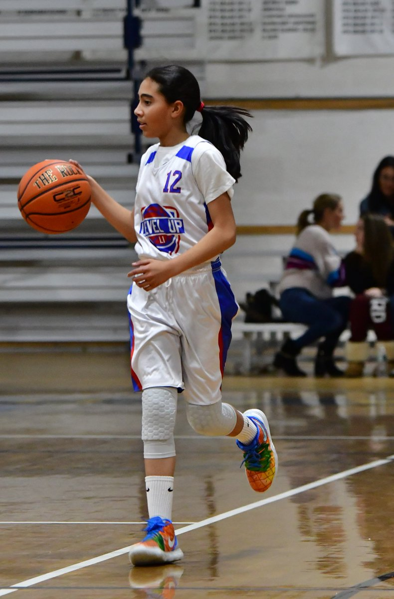 #PlayerSpotlight is on Selena Jones who is on the 6th Grade - White Team. Selena is a knockdown lefty shooter that hits shots consistently with confidence. She uses her length and size to her advantage attacking the basket and is great at finding her teammates when pressured.