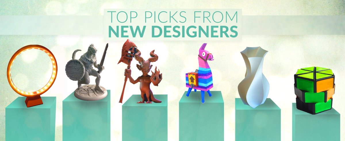Head over to our Top Picks #blogpost to check out the new talent on #myminifactory here:  😃  Featuring a #3ddesign of a chocolate storage case to #tabletop terrain, #miniatures, home, games (even a #llama from #Fortnite!) and more! #3dmodels #3dprinting