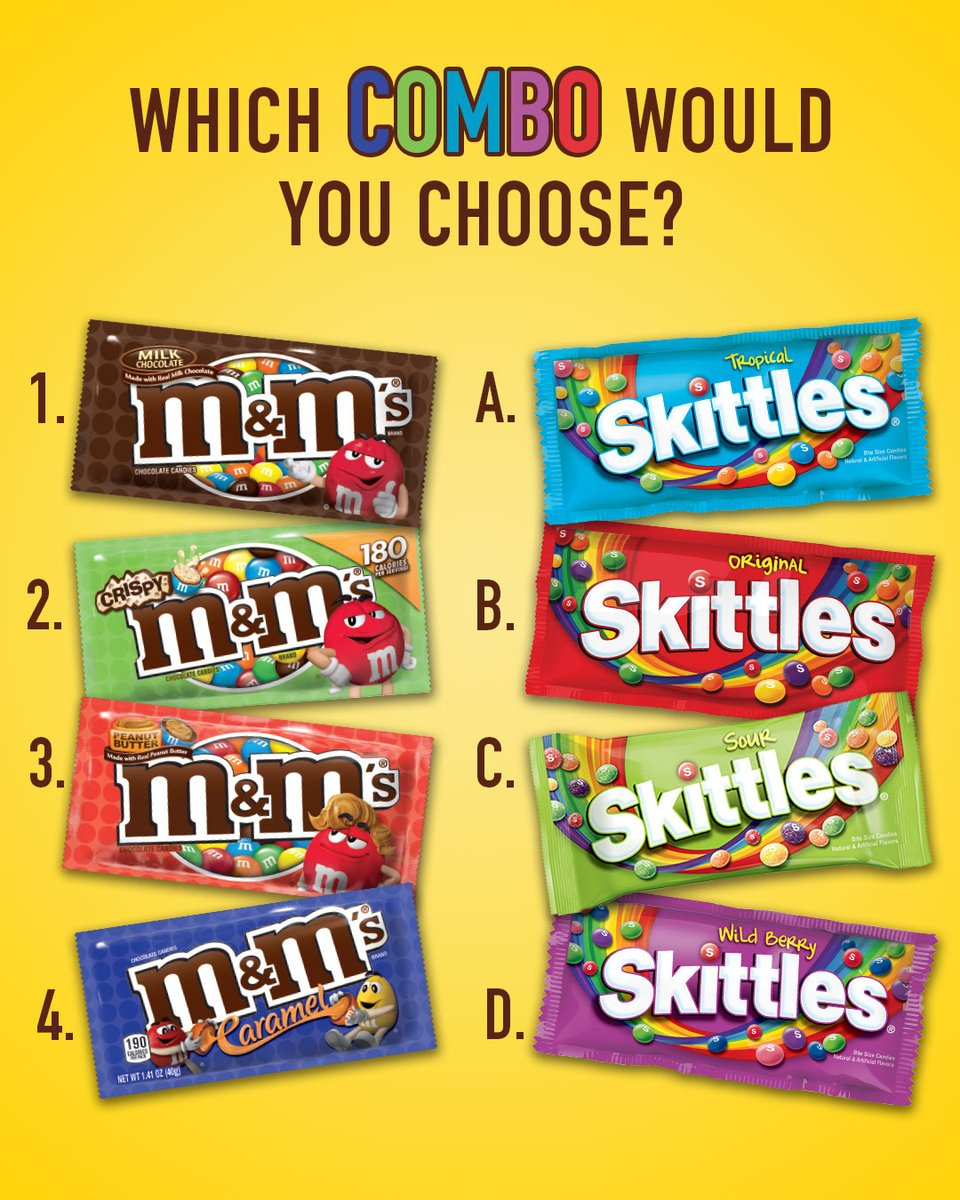 Sweet and sour has a nice ring to it... What's your @Skittles and M&M'S pick?