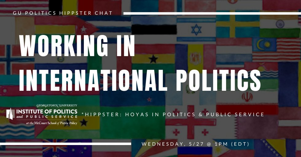 The history of the Hilltop has strong ties to international politics and diplomacy. Curious about what a career could look like in these areas? Then join GU Politics & @georgetownsfs tomorrow at 1PM for a virtual career workshop on international politics! docs.google.com/forms/d/e/1FAI…