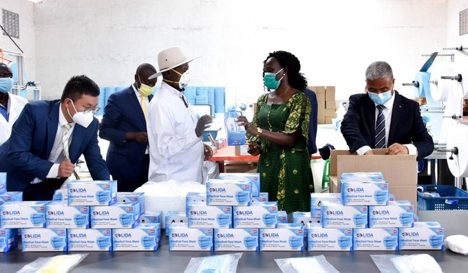 LIDA has a production capacity of 560,000 masks per day and is currently employing 315 Ugandan youth with more expected. #UBCNews