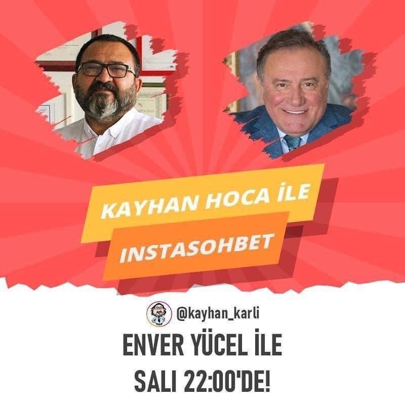 BUEK Başkanı Sn. @enveryucel bugün saat 22.00'da @kayhankarli ile Instasohbet programına canlı yayın konuğu oluyor. https://t.co/1Wi4ITiSZM
