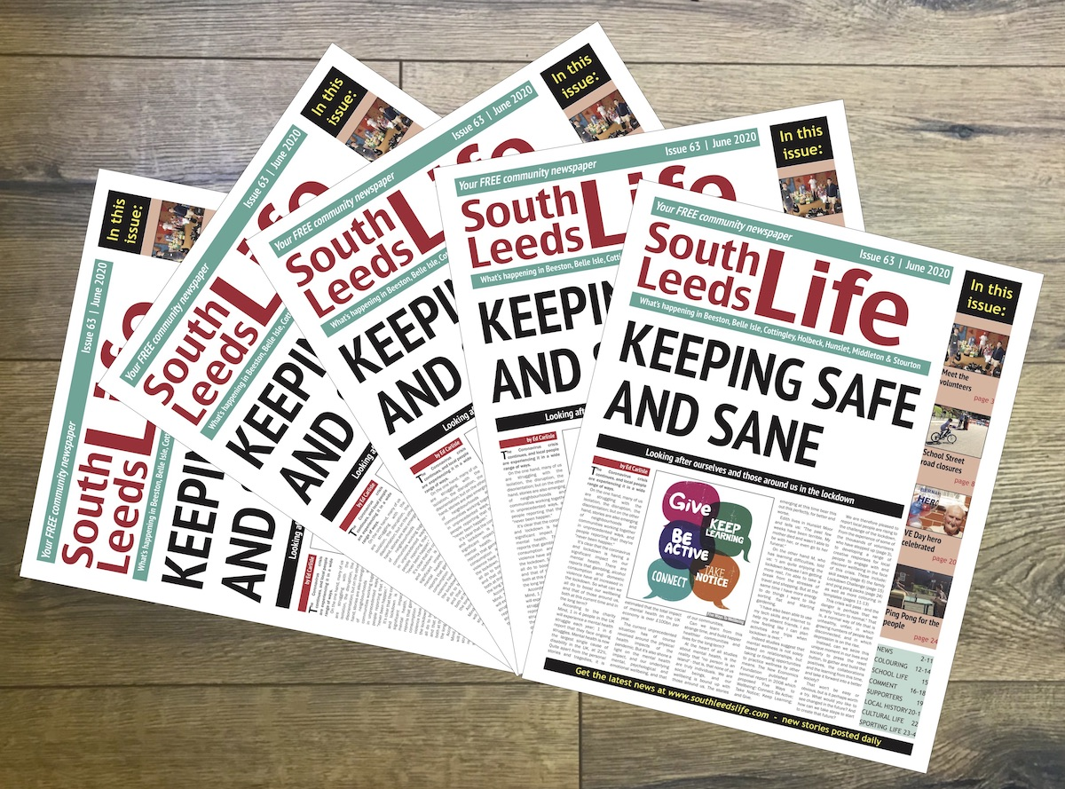 Our June newspaper will be back from the printers tomorrow and we will be out delivering to care homes, sheltered housing and food shops. Sign up as a pound-a-week subscriber to get it delivered to your door steadyhq.com/en/southleedsl…