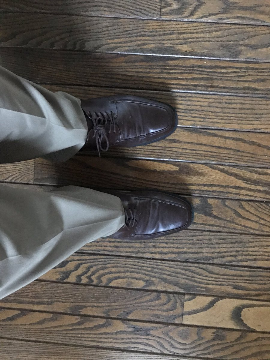 Hello dress shoes my old friend. It's time to wear you once again.