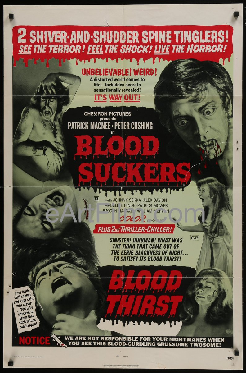 Happy Birthday, Peter Cushing!  http://eartfilm.com/products/blood-suckers-blood-thirst-peter-cushing-patrick-macnee-vampire-horror-1971-27x41?_pos=1&_sid=e5afbab4e&_ss=r …  #HappyBirthday #PeterCushing #actors #acting #horror #horrormovies #BloodSuckers #BloodThrist #DriveIn #movie #movies #poster #posters #film #cinema #movieposter #movieposters #originalmovieposters http://eArtFilm.com pic.twitter.com/4MVlfQZinq