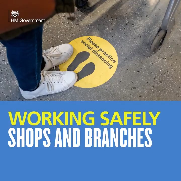 From June, certain shops across England will reopen. Weve updated our guidance to help them reopen safely. Full guidance ⬇️ gov.uk/guidance/worki… #StayAlert   @beisgovuk   #workingsafely
