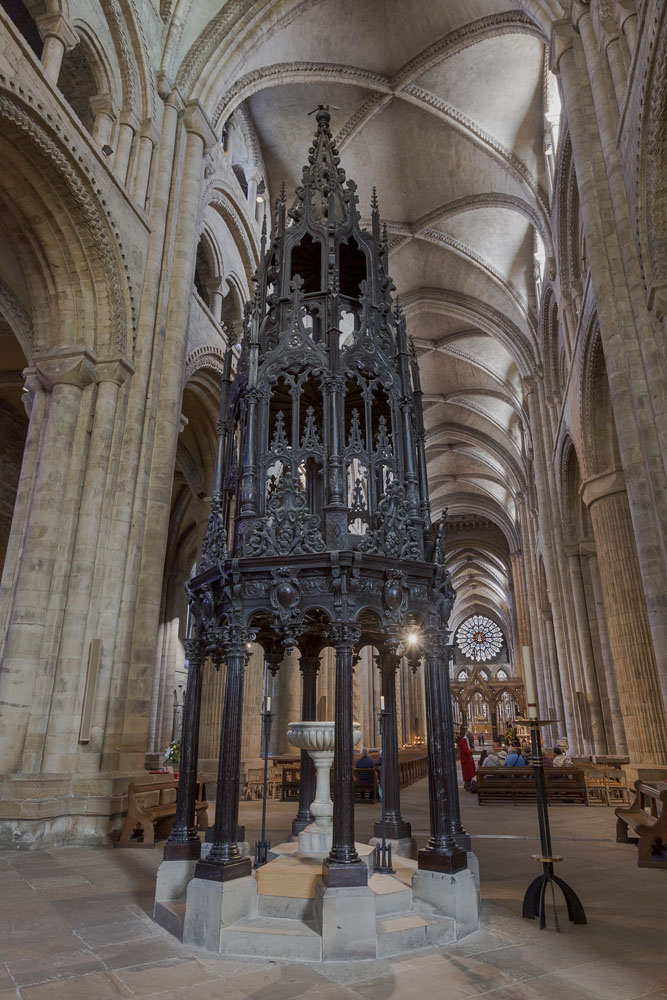 Here's an image of our magnificent font cover at the West end of the cathedral - one of the highest in England. It stands 12m (40ft) high and is a fine example of 17 century craftsmanship. Which is your favourite object in the cathedral?
