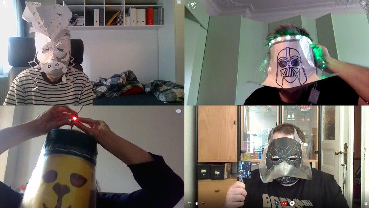 Noch kreative #Masken Ideen mit #Hardware gesucht? Die Teilnehmer*innen der offenen Werkstatt @TSBBerlin @citylabberlin haben gut vorgelegt ❤️ Cooler Blogbeitrag von @sarapedia1 & Anmeldung für Freitag 29.5. nicht vergessen! 🚀 #3ddesign #3dprinting ➡️