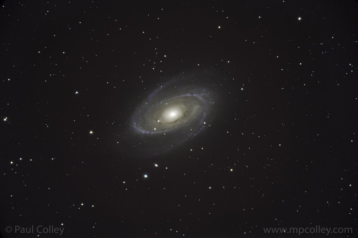 The best thing thing for my lockdown is a nightly escape to the stars through an astrophotography project. You can roam anywhere and last night I crossed 11.7 million light years to look in wonder at the stunning Bodes galaxy in Ursa Major. #Astrophotography
