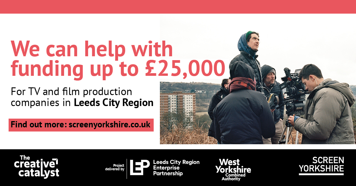 The deadline to apply to our £200K Indie #TV & #Film Development Fund is Friday 05 June. Established with @LeedsCityRegion to offer flexible grants (£2.5-25K) to support indies to go into production once they are able to film with the new safety guidelines https://t.co/DPcZ5E5NEl https://t.co/cjPYWHStjT
