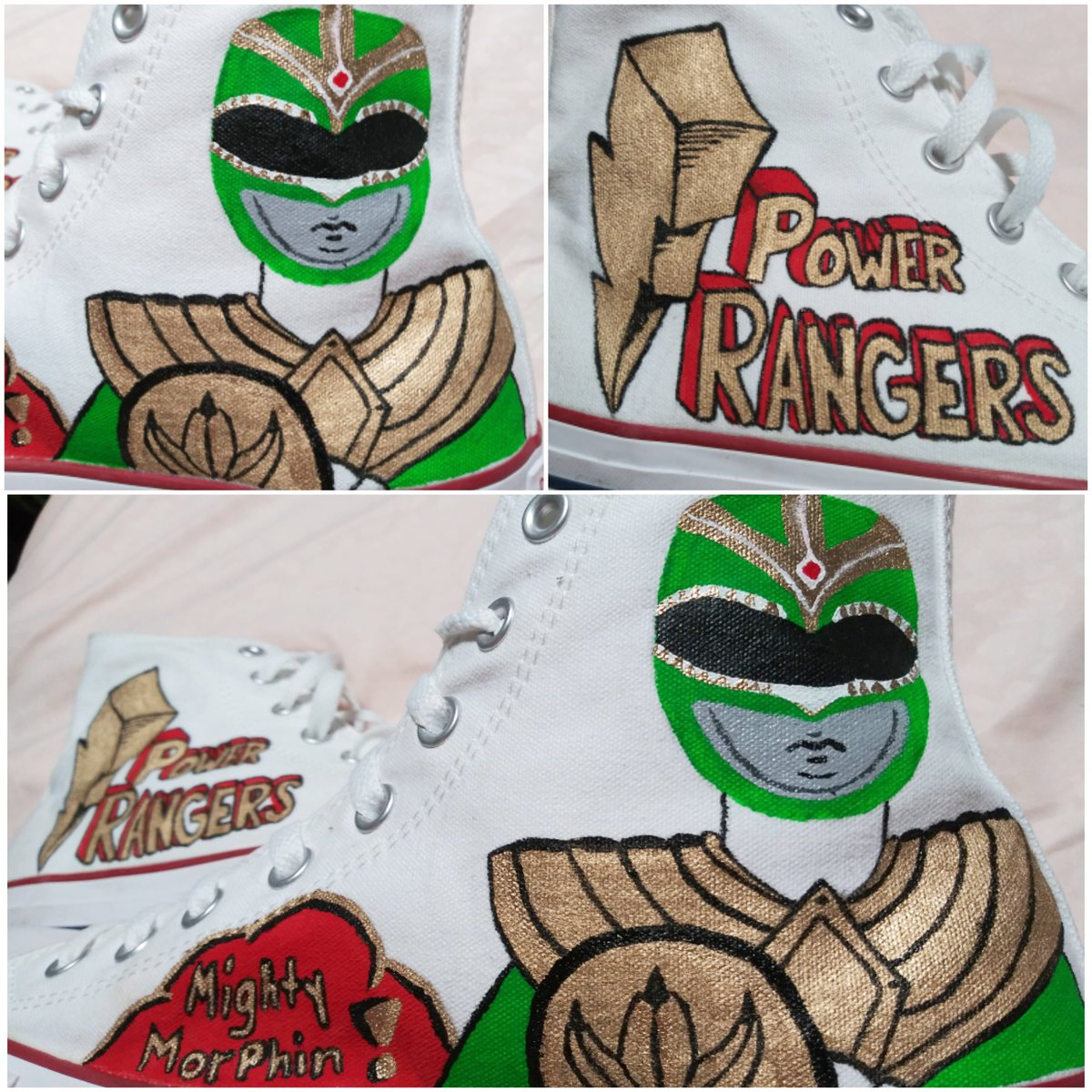 A lil something I do on my spare time....#converse #PowerRangerspic.twitter.com/fubtSnuMVN