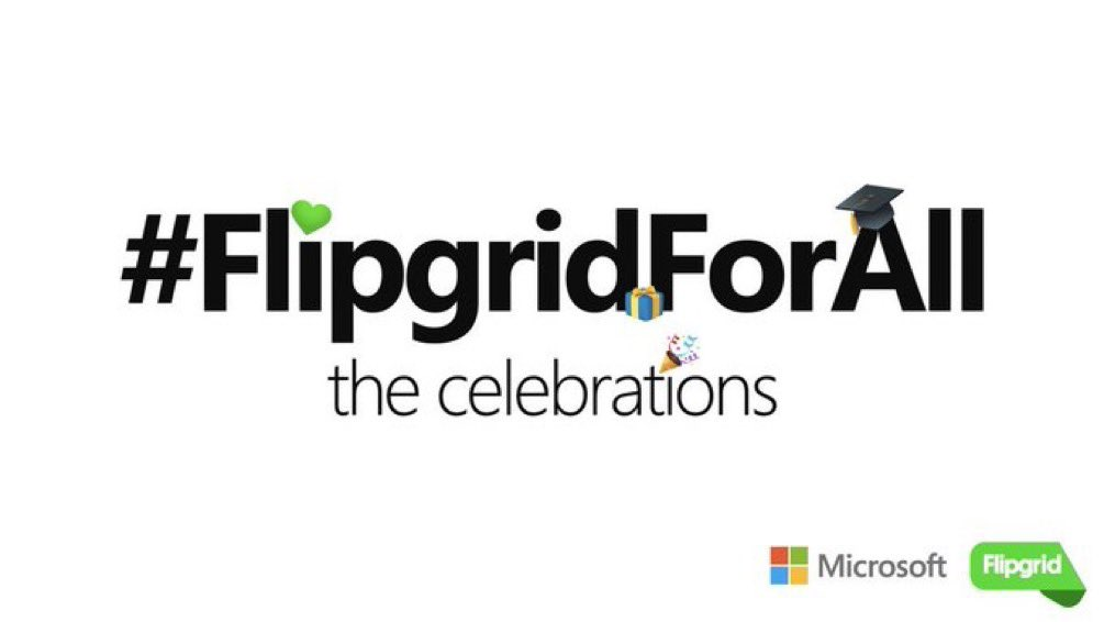 TODAY! Join us as we talk about the power of community during our @Flipgrid Feature... #FlipgridForAll the Celebrations 🍿 ⛵️ Decision Day 🎓 Graduation 🎂 Birthday Wishes 🏡 Edcamps and more! Tune in at 2:00p CT 🚀 Register ➡️ aka.ms/FlipgridForAll